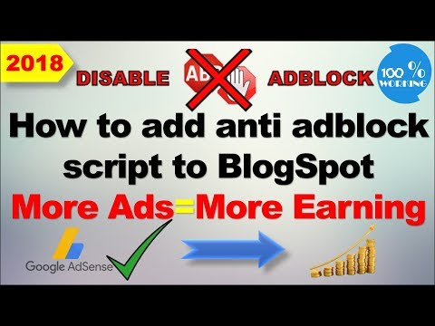 Download How To Add Anti Adblock Script For Blogger New