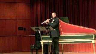 Sonata in B minor, mvt 1 - J.S. Bach   James Miller, Flute