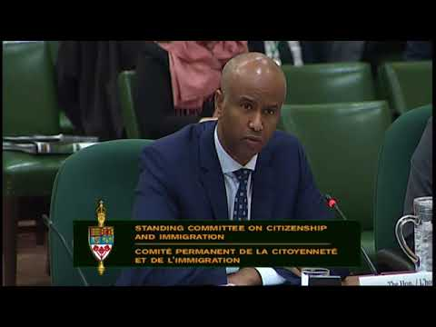 Trudeau's immigration minister Ahmed Hussen calls border crossers illegal in March 2018