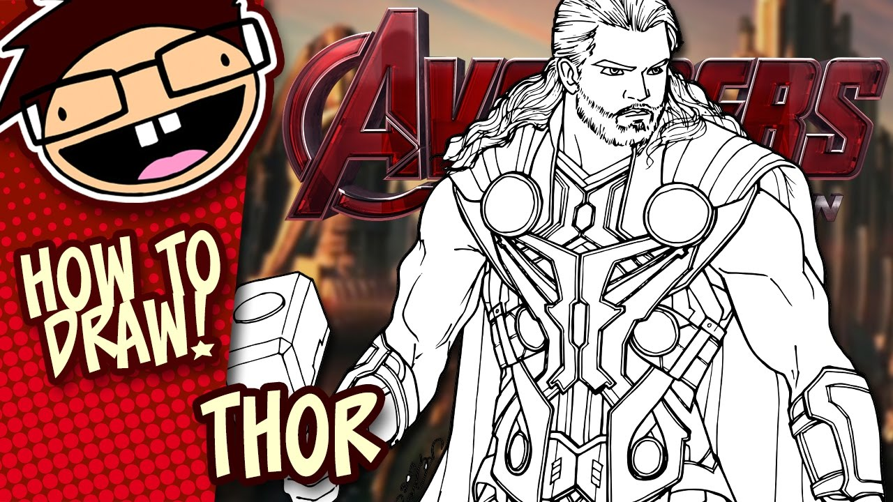 How To Draw Thor Avengers Narrated Easy Step By Step Tutorial