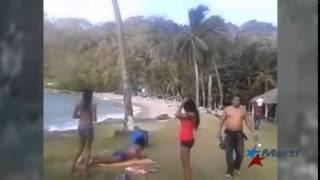 Cubanos filman peligrosa travesía hacia USA