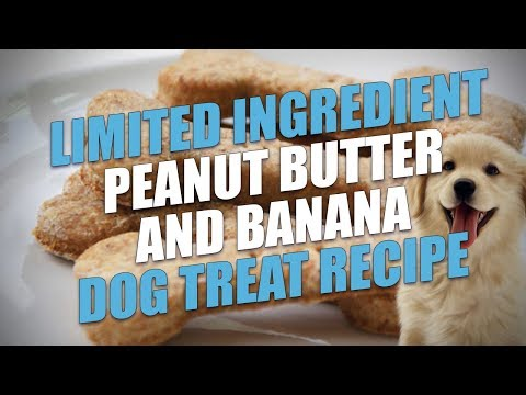Limited Ingredient Peanut Butter And Banana Dog Treat Recipe