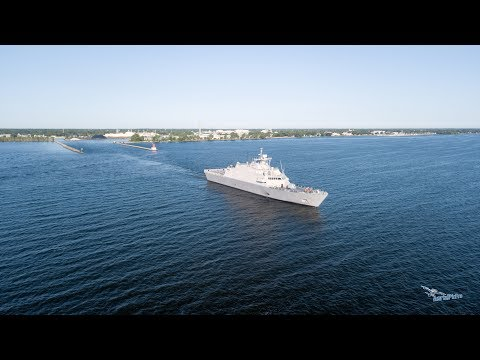 USS LITTLE ROCK LCS 9-Fincantieri Marinette Marine Sea Trials-AerialPicPro