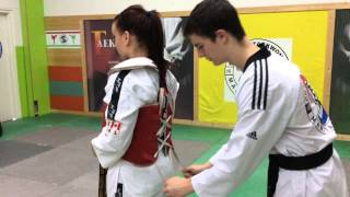 How To tie the chest guard