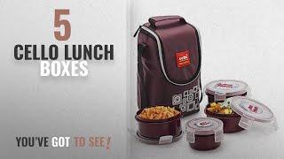 Best Cello Lunch Boxes [2018]: Cello Max Fresh Click Polypropylene Lunch Box Set, 4-Pieces, Brown
