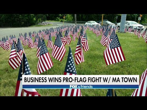 MA Town Backs Down After Residents Rally Around Business Cited for Excessive Flag Display