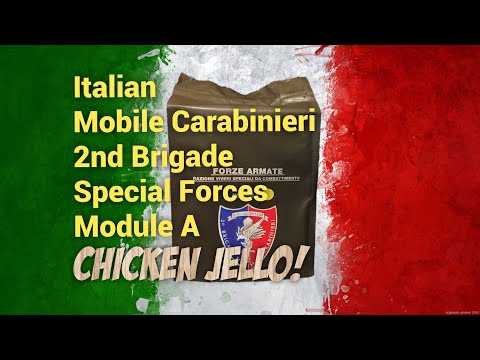 Italian Special Forces MRE Review: Mobile Carabinieri 2nd Brigade Module A -Chicken Jello Taste Test