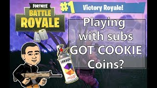 "Playing with subs ""Got Cookie Coins"" - FORTNITE battle ROYALE (sponsor goal 3/5)"
