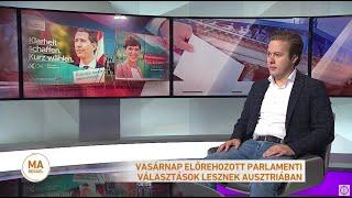 Vasárnap előrehozott parlamenti választások lesznek Ausztriában