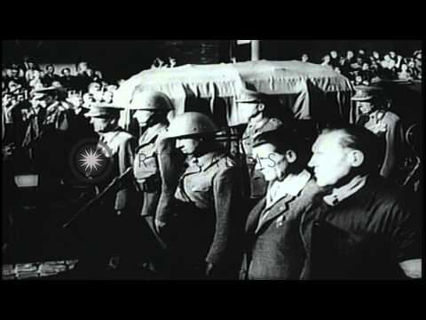 Czechoslovak coup with Communists coming to power; anti-Communist demonstrations ...HD Stock Footage