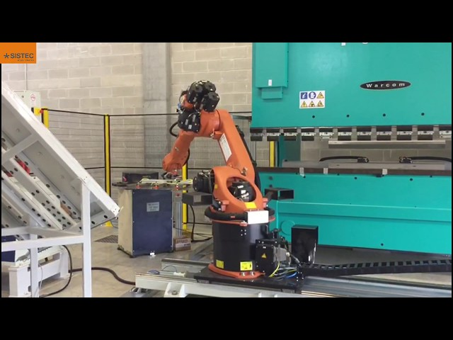 Full integration of a robotic bending cell - Sistema integrato di piegatura robotizzata.