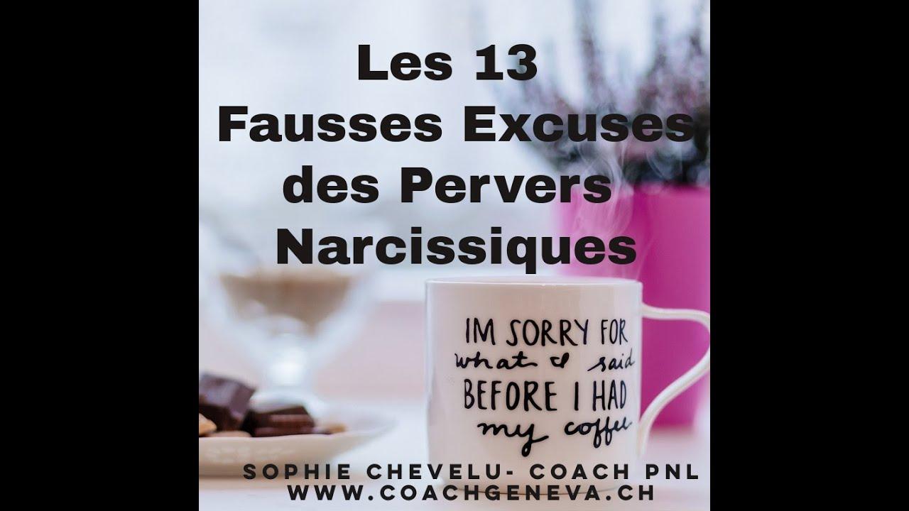 Vidéo : les 13 fausses excuses des Pervers Narcissiques