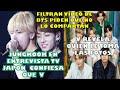 FILTRAN EL VÍDEO DE BTS/JUNGKOOK CONFIESA QUE 🐯/TAE REVELA QUIEN LE TOMA LAS FOTOS|entrevista tv 🇯🇵