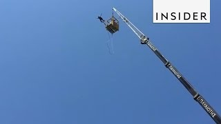 Bungee Jump From a Crane Into the Ocean