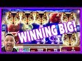 Winning on Konami Golden Wolves - Max Bet !
