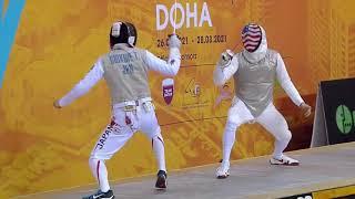 Doha 2021 SMF - GOLD - Shikine JPN v Meinhardt USA