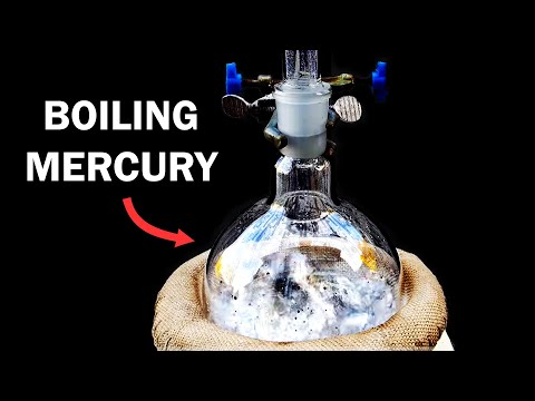 Distilling Mercury Metal