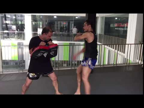 Sam-A Muay Thai speed kicks at Evolve MMA in Singapore