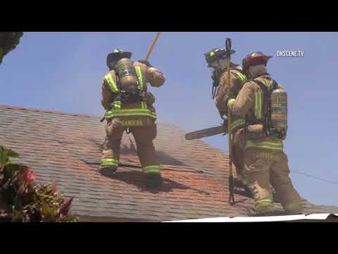 San Diego: Firefighter Saves Dogs From Burning House 05152018