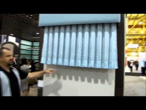 Lutron Kirbe Motorized Vertical Drapery System by 3 Blind Mice Window Coverings San Diego
