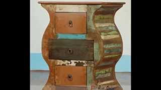 Indian Reclaimed Wooden Bedside Furniture Online