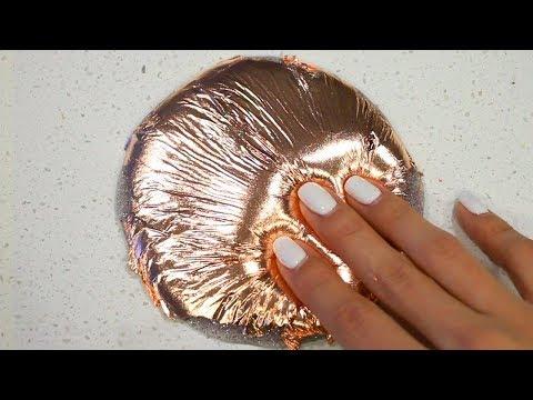 Gold Foil Slime Mixing! DIY Satisfying Silver, Gold, & Rose Gold Foil Slime ASMR #47!