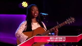 Anita Antoinette - Turn Your Lights Down Low | The Blind Audition | The Voice 2014 - Stafaband