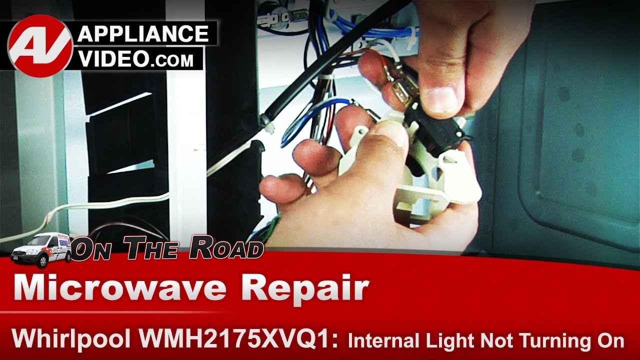 whirlpool maytag microwave intermittent heating primary switch diagnostic repair