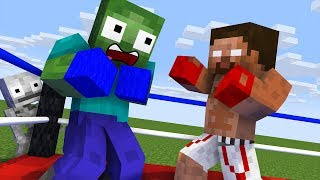 Monster School : BOXING Challenge - Minecraft Animation