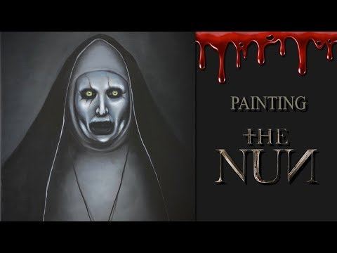 Painting The NUN (Valak) | Oil Painting | The Conjuring Series