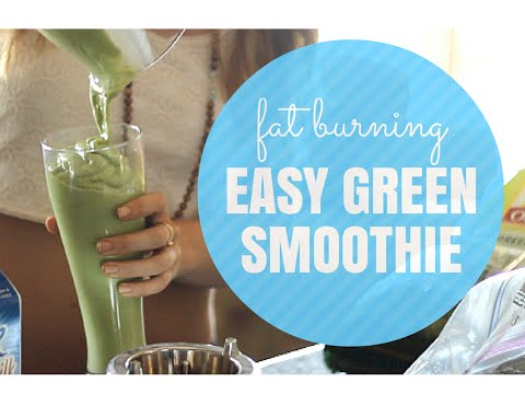 Fat Burning Foods: Green Smoothie Recipe for Weight Loss
