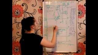 конструирование платья прямого фасона (урок-2)