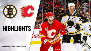 NHL Highlights | Bruins @ Flames 2/21/20