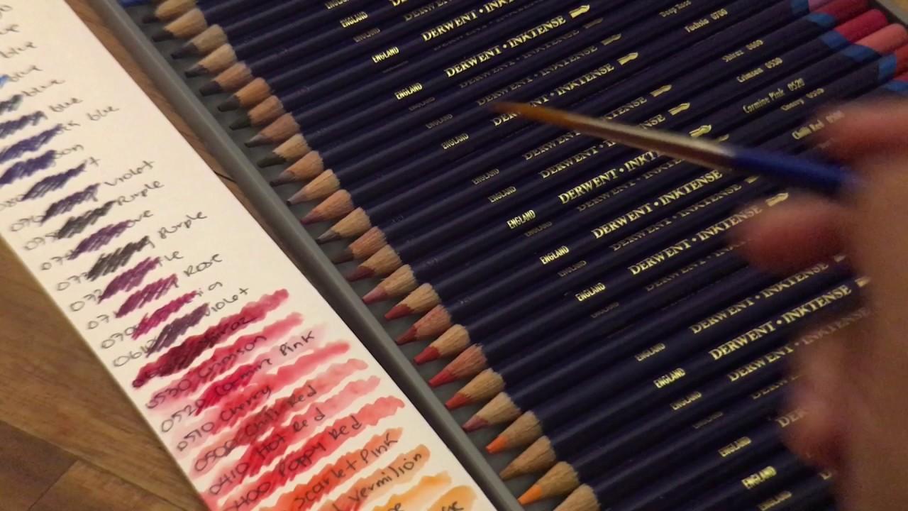 Danita Art Creating A Color Chart For Derwent Inktense Color