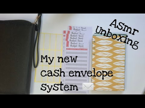 ASMR Unboxing Amazon Cash Envelope Wallet |glamelle|