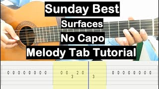 Sunday Best Guitar Lesson Melody Tab Tutorial No Capo Guitar Lessons for Beginners