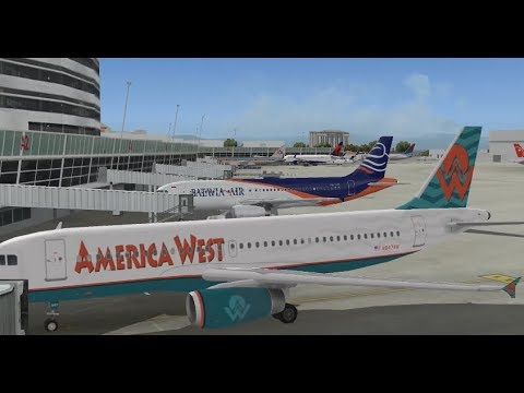 AIRBUS A320 232 PK VVD BATAVIA AIR TAKE OFF FROM SEATTLE INTL AIRPORT FS9 HD