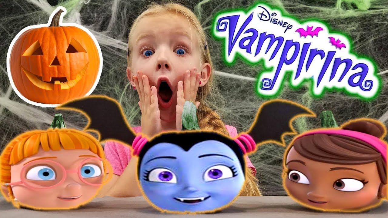 Diy Decorating Vampirina Pumpkins New Disney Junior Show