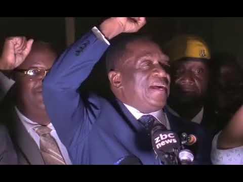 ACTING PRESIDENT OF ZIMBABWE 1ST SPEECH
