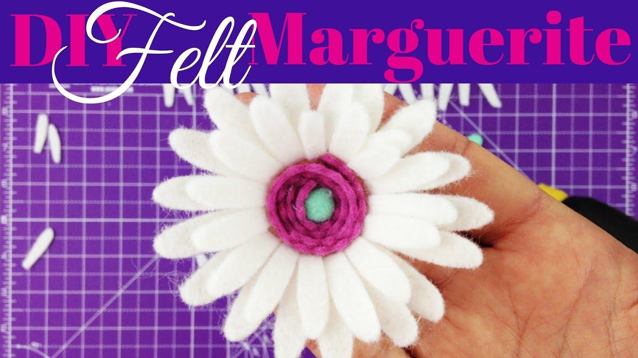 Felt Flower Series  - Marguerite Daisy - 2 of 5