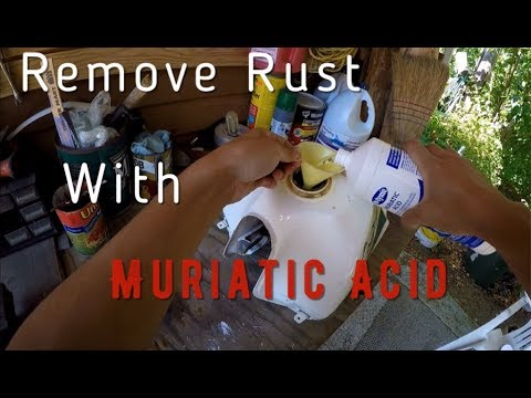 Gas Tank Rust Removal with Muriatic Acid
