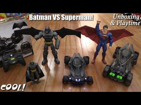 Batman VS Superman Promotional Toys! Batmobile RC, Batmobile Toy Car, Action Figures, Etc...