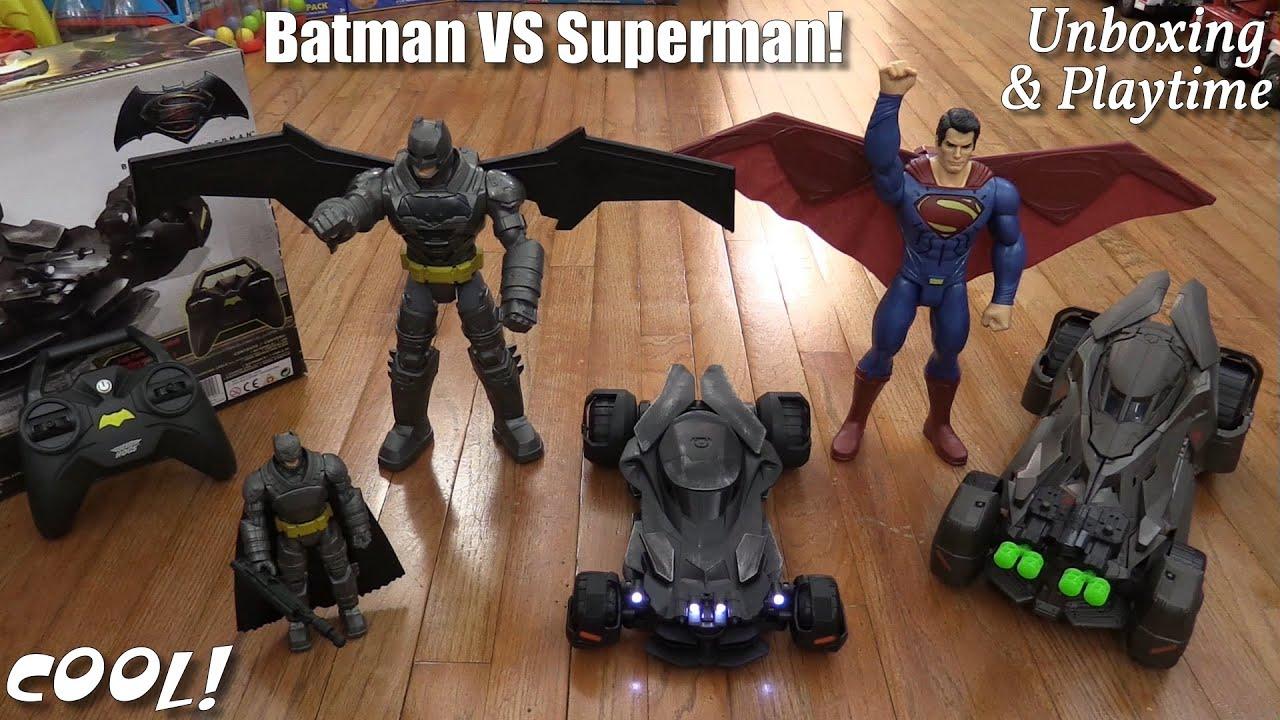 Batman VS Superman Promotional Toys! Batmobile RC ...