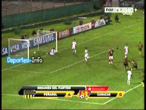 """Peñarol  4 - 0 Caracas """"Copa Santander Libertadores 2012"""" (Deportes-Info)"""