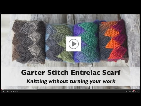 How To Knit A Garter Stitch Entrelac Scarf Without Turning Your Work