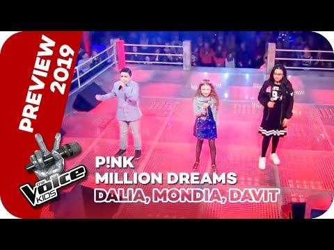 P!NK - A Million Dreams (Dalia, Mondia, Davit)   PREVIEW   The Voice Kids 2019   SAT.1