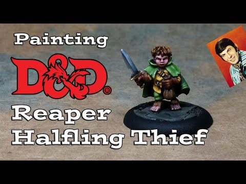Painting a D&D Reaper Halfling Thief (Tiny Texture Tutorial) thumbnail