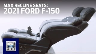homepage tile video photo for 2021 Ford F-150: Available Max Recline Seats | F-150 | Ford