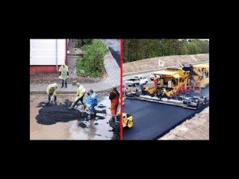 Modern Road Construction Russia USA Germany Australia Wet Weather Road Asphalting Mega Mac