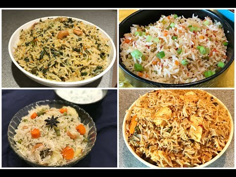 InstantPot Indian Veg Rice Recipes | Quick And Easy Rice Recipes | One Pot Meal | Lunch Box Recipes